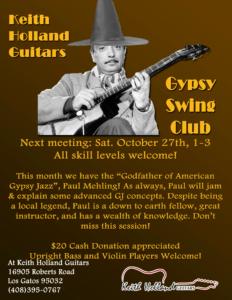 Los Gatos Gypsy Swing Club @ Keith Holland Guitars | Los Gatos | California | United States