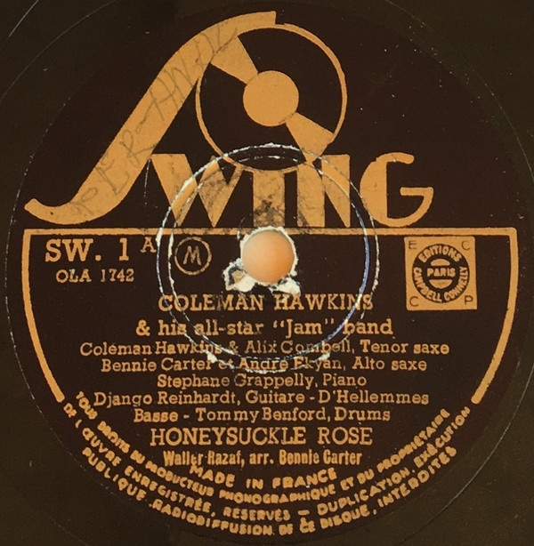 Swing 1 COleman Hawkins Django Reinhardt Honeysuckle rose.jpg