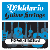 D'Addario Silk and Steel Strings (11-47)  EJ40