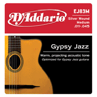 D'Addario Gypsy Jazz Strings Medium (11-45) EJ83M Ball Ends