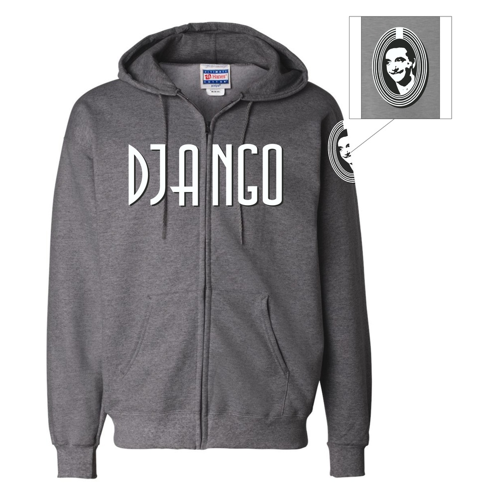 DELUXE Django Hooded Zip Sweatshirt With Sleeve Print
