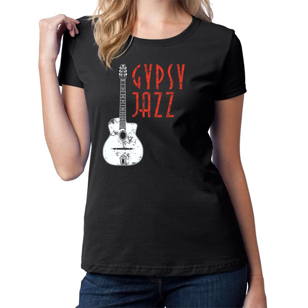 Distressed Selmer and Gypsy Jazz Women's T Shirt