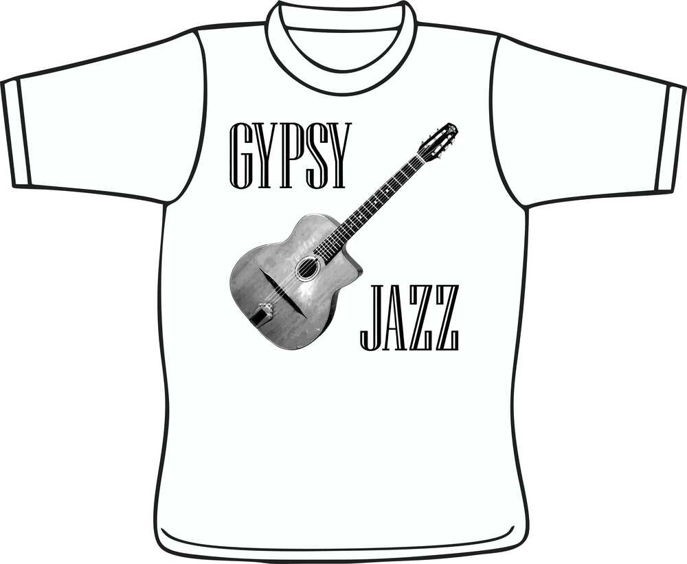 Gypsy Jazz And Selmer Style Guitar White T-Shirt