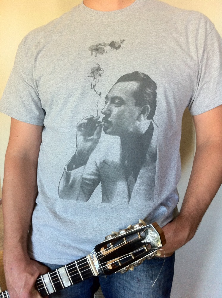 Django Reinhardt Smoking Grey Men's T-Shirt