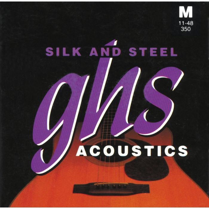 GHS 350 Silk and Steel Strings (1 set): 11 Ball End