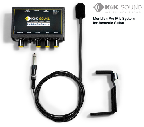 K&K Meridian Pro Microphone System for Acoustic Guitar