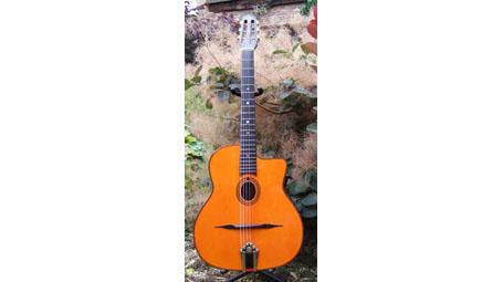 Manouche Moreno Modele Jazz Oval Hole Guitar With Hiscox Hard Shell Case Djangobooks Com