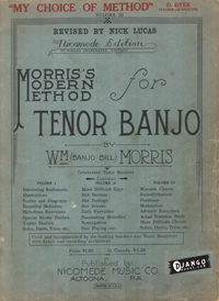 eBook: Morriss Modern Method for Tenor Banjo, Vol. 3 (Revised by Nick Lucas)