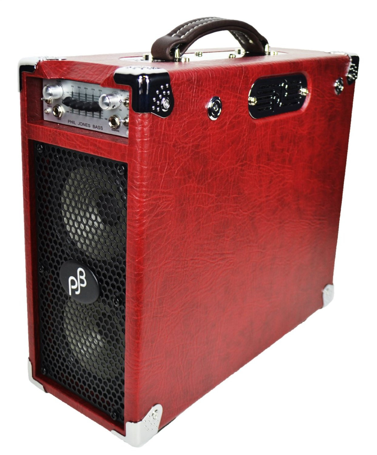 Phil Jones Bass Briefcase Ultimate RED with Cover