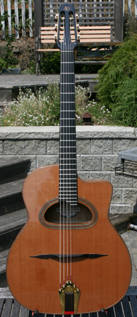 2006 Shelley Park Elan Short Scale 14 Fret D Hole Guitar (Serial #188)with Hardshell Case ***SOLD!!!