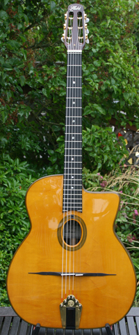 Stefan Hahl 2008 Gitano Oval Hole Guitar (Indian Rosewood Back and Sides) with Hardshell Case ***SOL