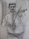 """Drawing by Tony Green - """"CALIU, TARAF DE HAIDOUKS"""""""