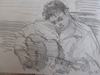 """Drawing by Tony Green - """"MANOUCHE GUITARIST"""""""