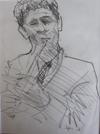 "Drawing by Tony Green - ""GHEORGHE FALCARU, TARAF DE HAIDOUKS"""
