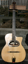 USED DELL'ARTE 14 FRET D HOLE ANOUMAN GUITAR WITH CASE ***SOLD!!!***