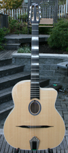 DELL'ARTE OVAL HOLE HOMMAGE GUITAR (ENRICO MACIAS MODELE) with HSC ***NEW PRICE!!!***