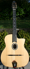 2005 DELL'ARTE JIMMY ROSENBERG GUITAR, BIGTONE PICKUP & HSC