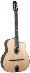 DELL'ARTE DG-H2 HOMMAGE (FAVINO STYLE) GUITAR OVAL HOLE ***THIS MODEL HAS BEEN DISCONTINUED***