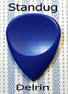Dugain Contoured Pick - Delrin Blue