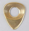 Dugain Contoured Pick (No Index Imprint with Hole) - Brass