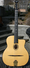 2009 Dupont BUSATO Luxe Oval Hole Guitar CUSTOM (Indian Rosewood Back and Sides, Ebony Binding) with
