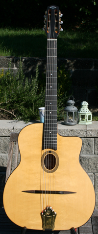 2008 Dupont BUSATO Standard Oval Hole Guitar (Mahogany Back and Sides) with Hardshell Case ***SOLD!!