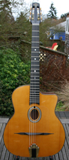 Maurice Dupont 2009 MD-50 Oval Hole Guitar (Indian Rosewood Back and Sides) with HSC