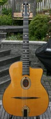 Maurice Dupont 2010 MD-50 Oval Hole Guitar (Indian Rosewood Back and Sides) with HSC