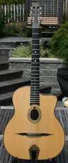 Maurice Dupont 2000 MD-50 Oval Hole Guitar (Indian Rosewood Back and Sides) with Hardshell Case ***S
