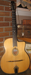 Maurice Dupont 2001 MD-50B Oval Hole Guitar (Brazilian Back and Sides and upgraded encased DM tuners