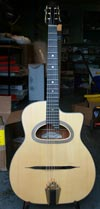 Maurice Dupont 2006 MDC-60 D Hole Guitar (Santos Rosewood Back and Sides) with HSC and Bigtone PU