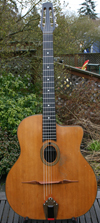 1960s Jacques Favino 14 Fret Oval Hole Guitar with Hardshell Case ***SOLD!!!***