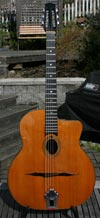 1974 Jacques Favino 14 Fret Oval Hole Guitar #369 (Indian Rosewood Back and Sides) with Bigtone PU
