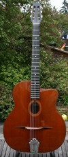 1978 Jacques Favino 14 Fret Oval Hole Guitar #640 (Cedar Top - Indian Rosewood Back and Sides) HSC