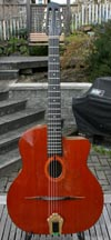 1979 JP Favino 14 Fret Oval Hole Guitar #667 (Cedar Top - Indian Rosewood Back and Sides) OHSC
