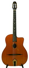Jean Barault 2010 Oval Hole Guitar (Cocobolo Back and Sides) HSC ***FACTORY SECOND***