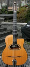 Jean-Pierre 1996 Favino 12 Fret LONG SCALE D Hole Guitar #1087 (Mahogany Back and Sides) with HSC