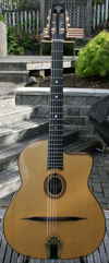 Manouche Latcho Drom AM-200, Oval Hole, Solid African Mahogany back and sides, 14 Fret Guitar (Asian