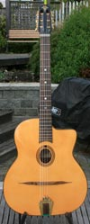 Manouche Latcho Drom Nuages Oval Hole, Laminated Indian Rosewood back and sides, 14 Fret Guitar