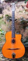 Manouche Moreno Modele Jazz Oval Hole Guitar with Hiscox Hard Shell Case