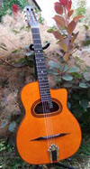 Manouche Modele Orchestre 12 Fret D-Hole Guitar with Hiscox Hard Shell Case