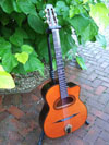 Manouche Modele Orchestre D-Hole 14 Fret Guitar with Hiscox Hard Shell Case