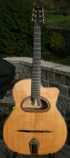 2004 Shelley Park Elan 12 Fret D Hole Guitar with Maple Back and Sides (Serial #134) with HSC