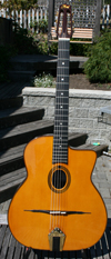 Stefan Hahl 2009 Gitano Oval Hole Guitar (Indian Rosewood Back and Sides) with Hardshell Case ***SOL